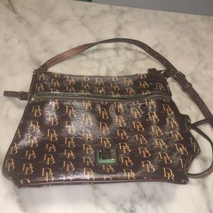 Dooney & Bourke Ribbed Coated Canvas & Leather Bag